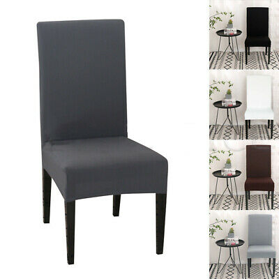 AU45.69 • Buy Dining Chair Covers Stretch Jacquard Parson Chair Slip Covers Washable 8 PCS
