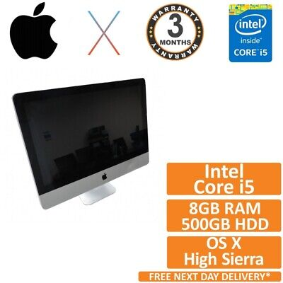 Apple IMac A1311 21.5 Core I5 2400s 2.5GHz 8GB 500GB Grade B • 199.95£