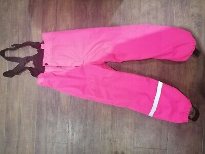 Girls Ski Trousers Reflective 7-8years  Braces Dungarees Lined • 3.50£