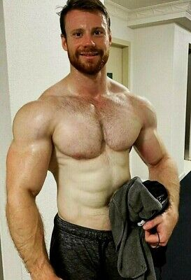 $ CDN5.06 • Buy Shirtless Male Muscular Hunk Beefcake Hairy Chest Bearded Man PHOTO 4X6 G1170