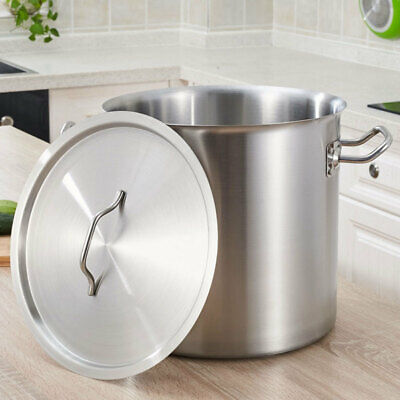 £45.95 • Buy Stainless Steel Catering Cooking Deep Stock Pot Pans With Handles & Lid All Size