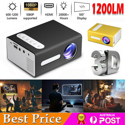 AU64.85 • Buy Portable 1080P HD Mini Video Projector Home Theater Cinema Movie Projection HDMI