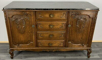 £599 • Buy French Antique Marble  Topped Chest Of Drawers / Sideboard