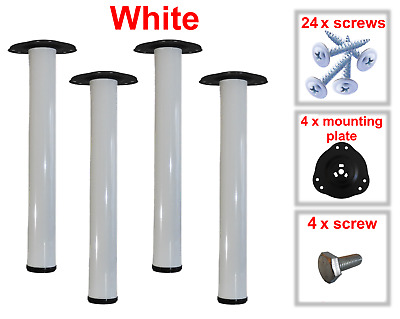 White Metal Table Legs Adjustable 710mm Fitting Kit Included • 21.77£