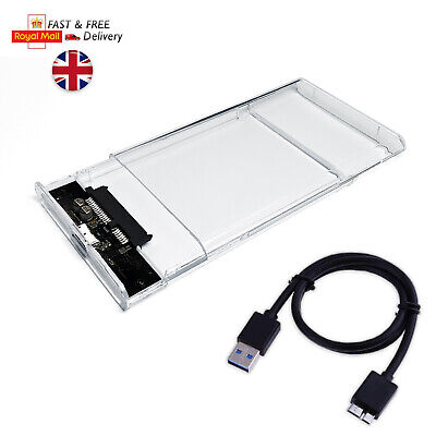£6.79 • Buy  USB 3.0 To SATA Hard Drive Enclosure Caddy Case For 2.5  Inch HDD / SSD Externa