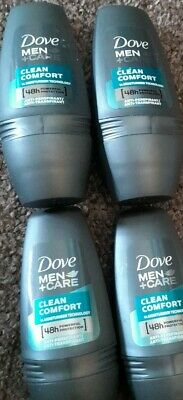 4 Dove Men +care 48h Clean Comfort Anti Perspirant Protection Deodorant Roll On • 6.99£