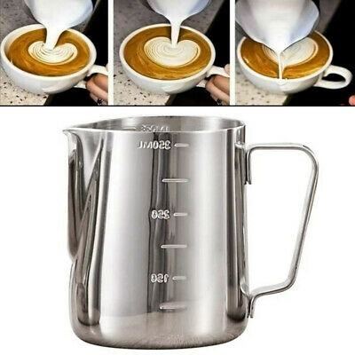 £7.39 • Buy Stainless Steel Milk Frothing Jug Frother Serving Coffee Latte Container Pitcher