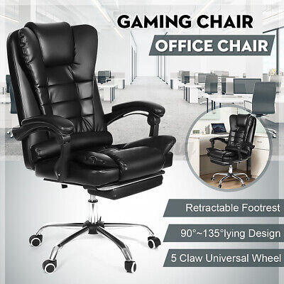 £74.99 • Buy Executive Office Chair Swivel Computer Desk Seat Gaming Chair Leather Recliner