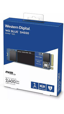 WD SN550 1TB High-Performance M.2 Pcie NVMe SSD - Blue • 80£