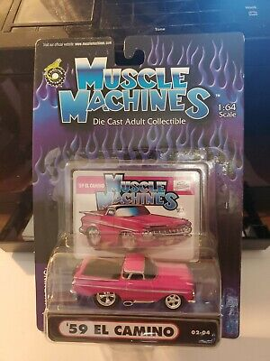 Funline Muscle Machines '59 El Camino Flag Die Cast Red White Blue • 5.06£