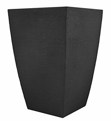 Tusco Products MSQT19BK Modern Square Garden Planter 19-Inches Tall Black • 51.05£