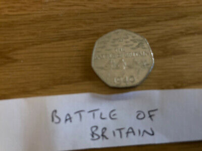50p Fifty Pence Commemorative. BATTLE OF BRITAIN 2015 Coin   Circulated • 2£