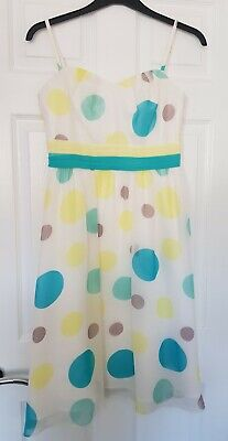 Women's Occasion Dress DEBUT Size 12 Multi Polka Dot Detachable Spaghetti Straps • 4.98£