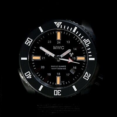 $ CDN448.87 • Buy MWC Military Diver  Kampfschwimmer  GMT Tritium T100 PVD