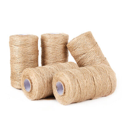 100M/Roll Craft Durable For Gardening Applications Jute Best Arts Natural Rope • 4.50£