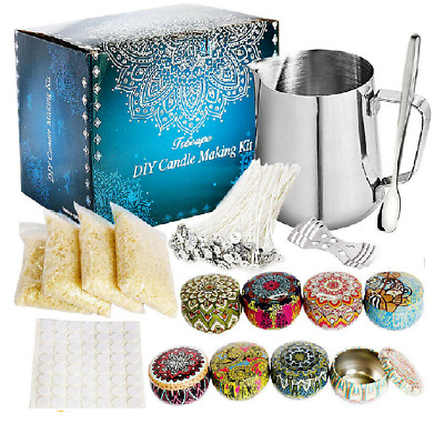 £15.99 • Buy Complete Candle & Melt Making Kits DIY Starter Dyes Wicks Soy Wax Candle Pitcher