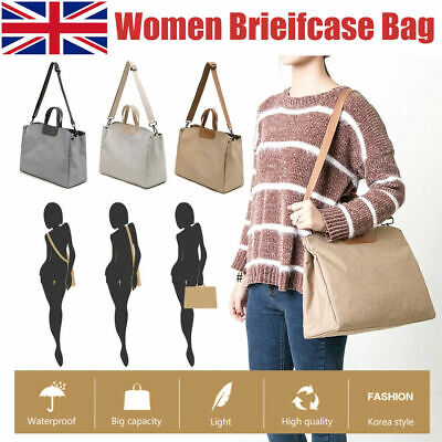 Lady Laptop Bag Briefcase Women Work Shoulder Bag Travel Office Computer Handbag • 12.98£