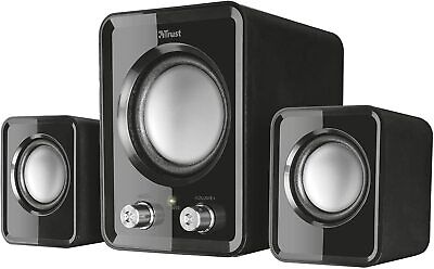 2.1 PC Speakers With Subwoofer For Computer Laptop Compact System 12W USB UK • 9.59£