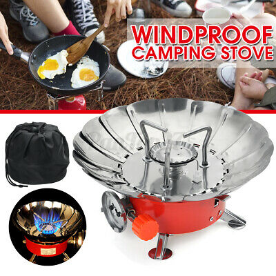 AU20.99 • Buy Windproof Gas Stove Camping Picnic Mini Burner Portable Cooking Hiking