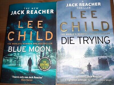 2 X Lee Child Novels - Blue Moon & Die Trying • 1.50£