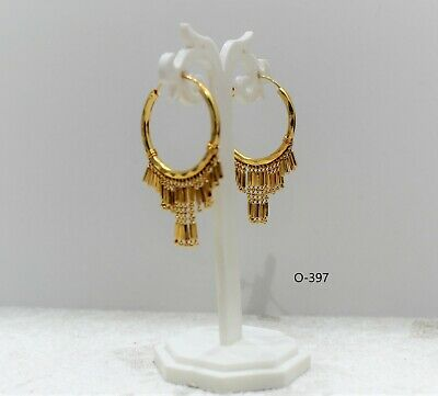 £4.99 • Buy New Indian Pakistani  Bollywood Gold Plated Small Hoops Earing Tribal Jewellery