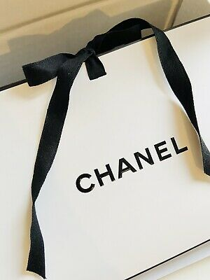 £6.99 • Buy Authentic Chanel Empty Gift Bag With Ribbon Tie Chanel Envelope And Parcel Box .