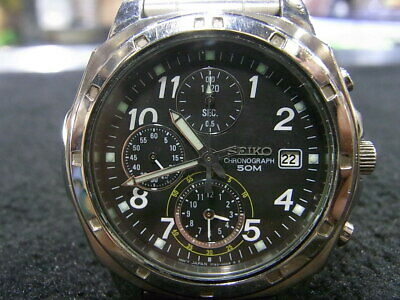 $ CDN4.10 • Buy All Original Vintage SEIKO Man's Chronograph 50M Diver Watch
