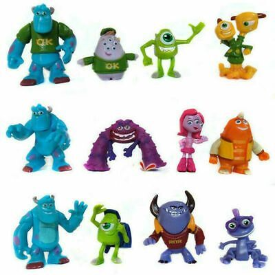 12X Monsters Inc University Sully Mike Animal Action Figure Gift Toy Cake Topper • 10.69£