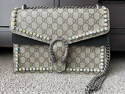 AU799 • Buy Authentic Gucci Dionysus Crystal Medium GG Shoulder Bag