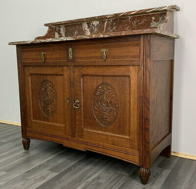 £399 • Buy French Antique Marble  Topped Chest Of Drawers / Sideboard