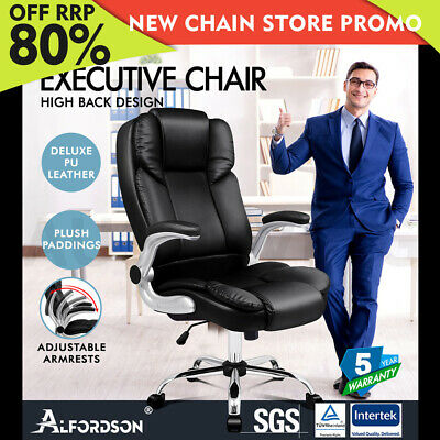 AU139.85 • Buy ALFORDSON Office Chair Executive Computer Gaming Racer PU Leather Work Seat