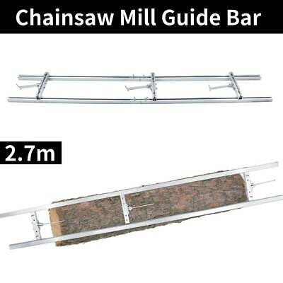 2.7m Universal Chainsaw Guide Mill Portable Chain Saw Planking Lumber Bracing • 86.89£