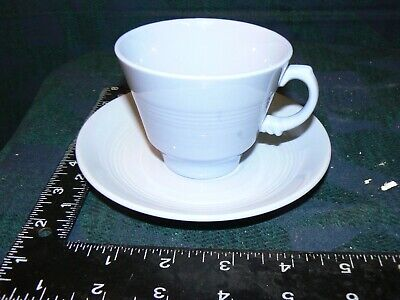 £7.49 • Buy Vintage Blue Iris Woods Ware Tea Cup And Saucer 40s Utility 4 Available