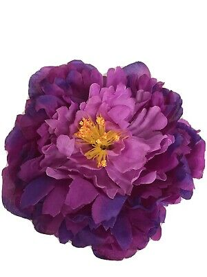 4x Artificial Purple Peony Flower Heads Bouquet Wedding Party Table Decor • 3.99£