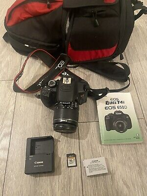 Canon EOS Rebel T4i  650D Digital Camera & 18-55mm Lens With Bag & Memory Card • 300£