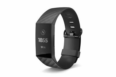 AU90.50 • Buy Fitbit Charge 3 Advanced Fitness Tracker, Large - Black/Graphite