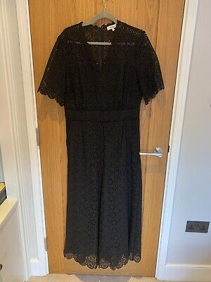 Somerset By Alice Temperley Ladies Jumpsuit Black Lace UK Size 14 • 7.70£