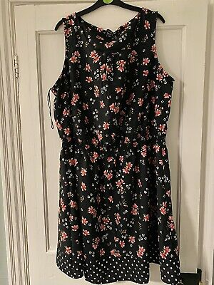 New Look Curves Size 22 Dress Flower Floral Ladies Dress  • 4.50£