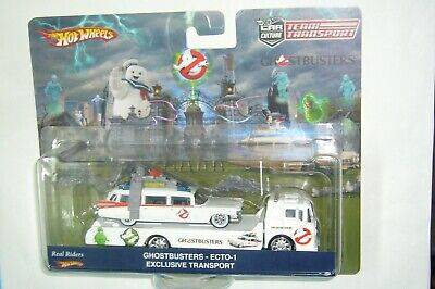 Hot Wheels Team Transport Ghostbusters Ecto-1 & Ford C-800 Exclusive Limited R/r • 19.19£