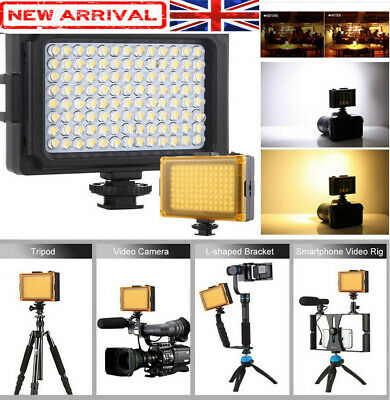 Bright 96 LED Studio Video Light For DSLR Camera Camcorder Photography Photo • 12.56£