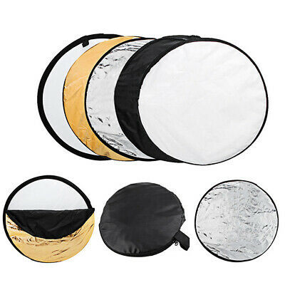 60cm Round 5 In 1 Photography Studio Photo Disc Collapsible Light Reflector • 9.25£