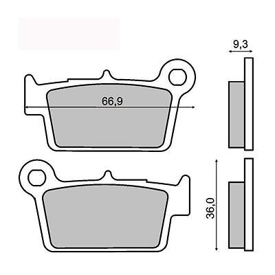 $53.86 • Buy Rear Brake Pads Yamaha YZ 125 2003 2004 2005 2006 2007 RMS 225101453