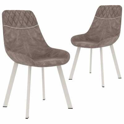 AU168.99 • Buy VidaXL 2x Dining Chairs Brown Faux Leather Kitchen Dinner Bar Stool Furniture