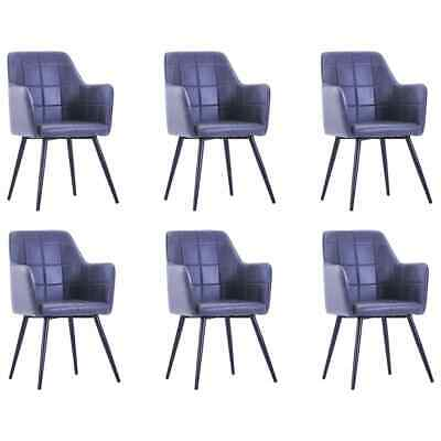 AU562.99 • Buy VidaXL 6x Dining Chairs Grey Faux Suede Leather Dinner Room Seat Furniture