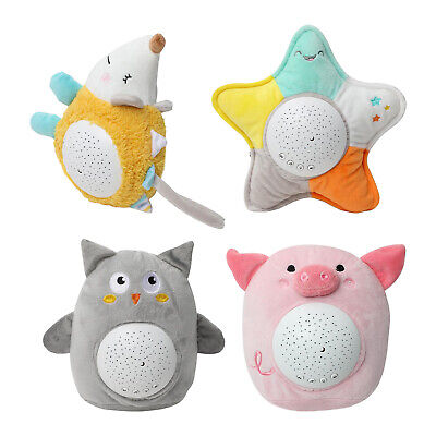 Kids Plush Toy Starry Night Lamp LED Star Projector Night Light With Music • 12.36£