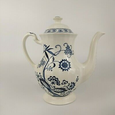 £29.99 • Buy Vintage English J & G Meakin Nordic Classic Blue & White Coffee Pot 8.5  1960s