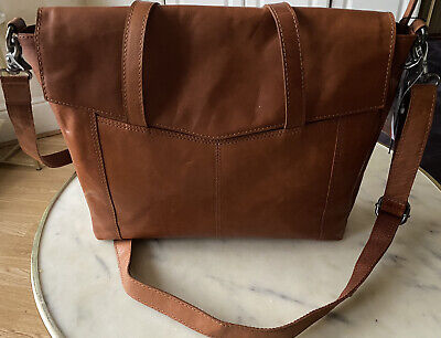 Spikes And Sparrow Tan Leather Handbag/laptop Bag/authentic/NEW WITH TAG/Genuine • 85£