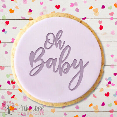 £4.95 • Buy Oh Baby Embosser Stamp, Cookie Cutter, Fondant Cupcake, Baking *NEW*