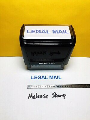 $12.49 • Buy Legal Mail Rubber Stamp Blue Ink Self Inking Ideal 4913