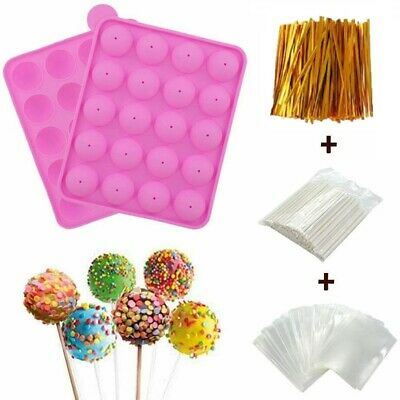 £11.59 • Buy Silicone Lollipop Pop Mold Cake Cookie Chocolate Mould Baking Tray +100 Sticks